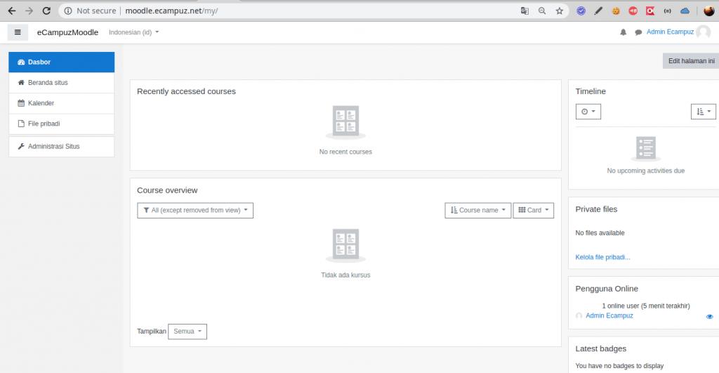 Install Moodle pada OS Linux