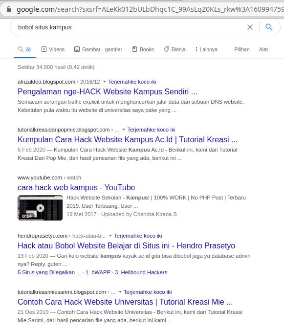 berita hacking server kampus